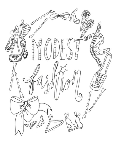 Modest Love Coloring Page