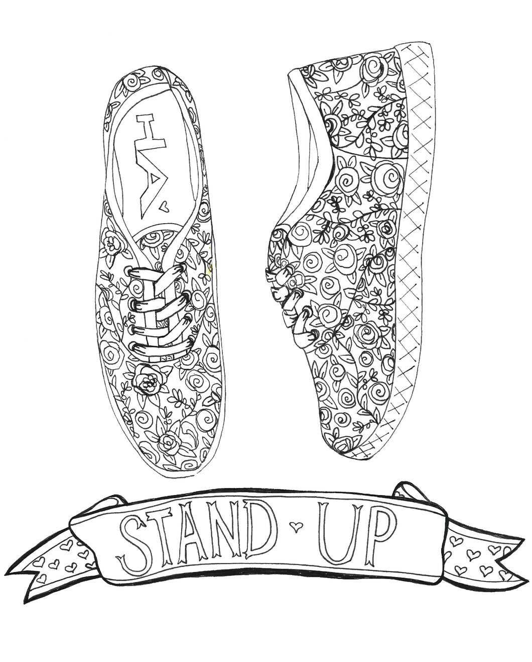 Stand Up Coloring Page