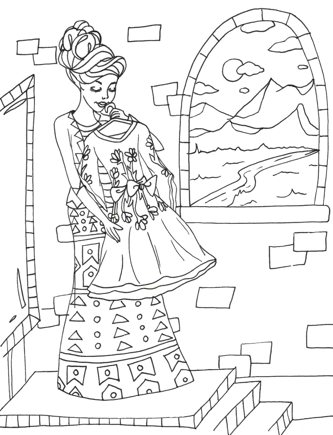 Modest Princess Coloring Page