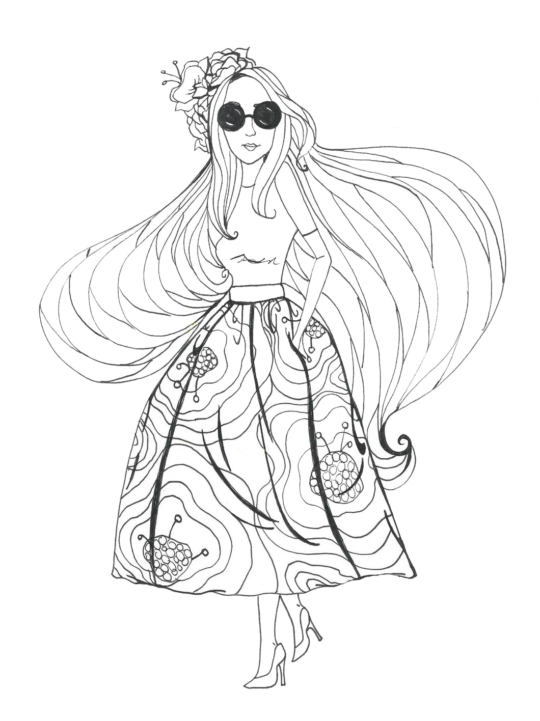 Glory Girl Coloring Page