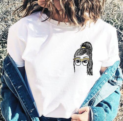 Tia Comfy Tee, Girls in Glasses