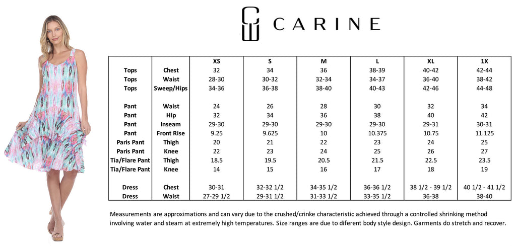Carine Size Guide