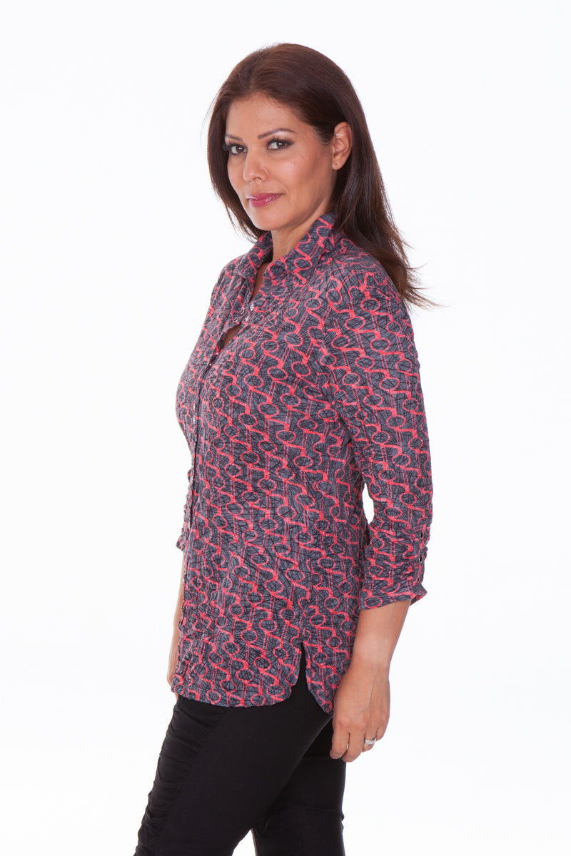 Sabrina Shirt - Red Rings - CARINE