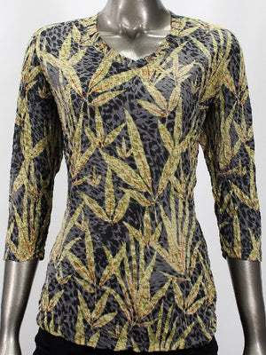 V-Neck Top - Gold Willow - CARINE