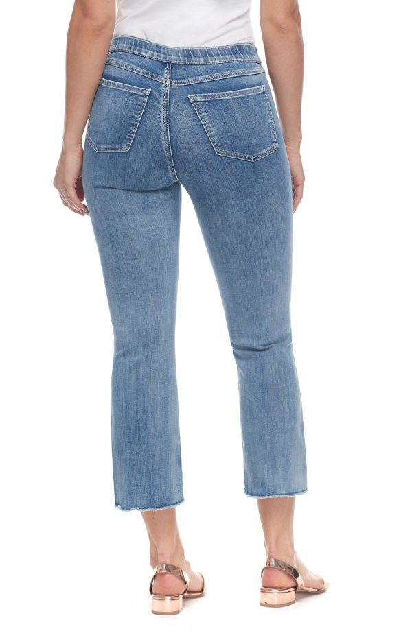 Pull-On Crop Pant - Moody Blue - CARINE
