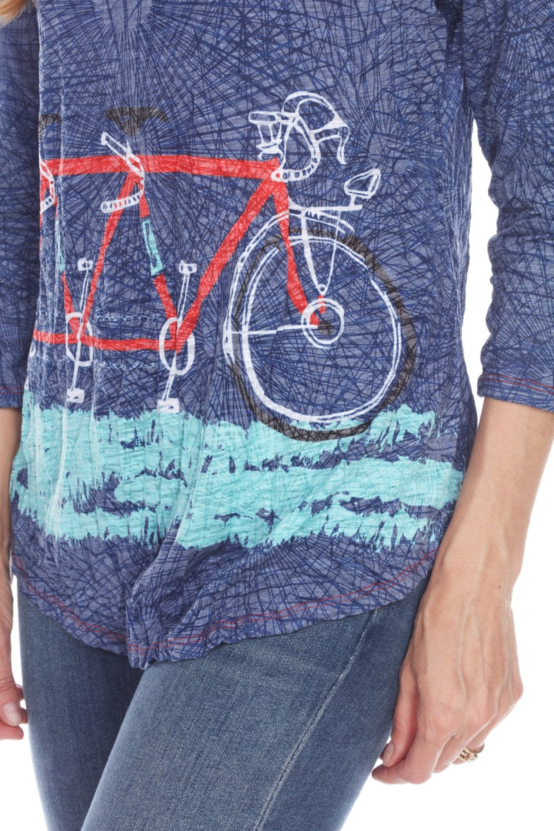 V-Neck Top - Tandem Bike - CARINE