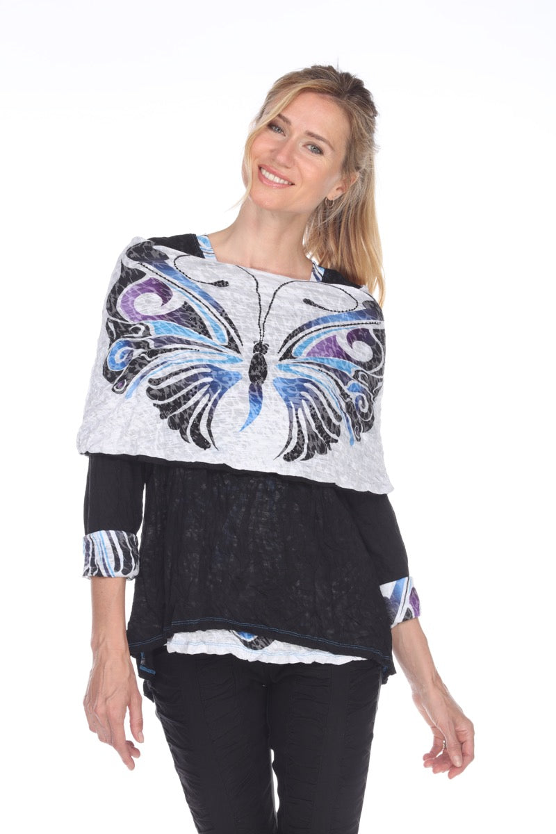 Maria Top - Blue Butterfly - CARINE