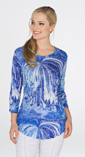 Round-Neck Top - Sea Wall - CARINE