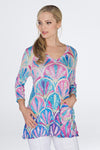 Jackie Top - Fuchsia Abstract - CARINE