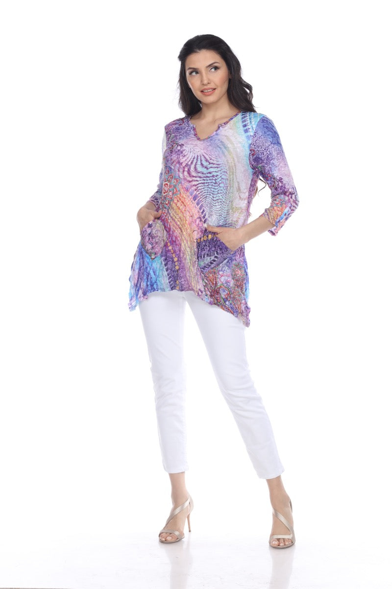 Two-Pocket Tunic - Silk Dream - CARINE