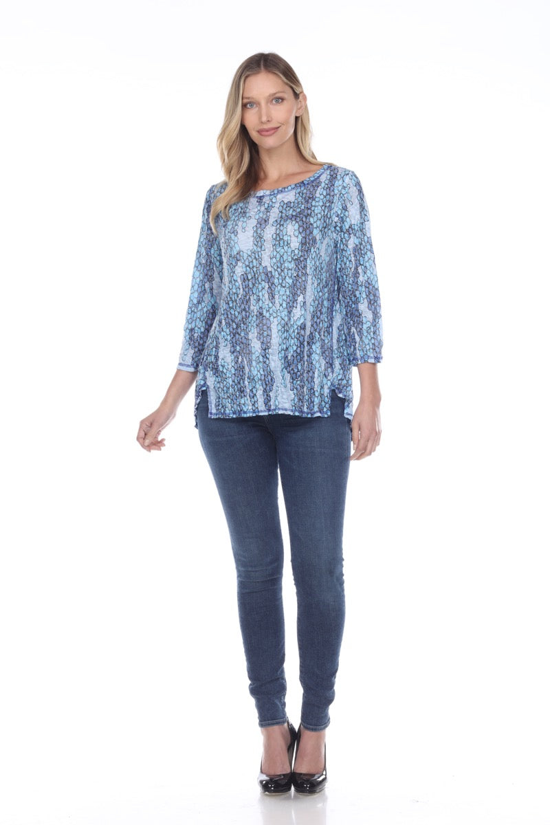 Jada Top - Blue Scales - CARINE