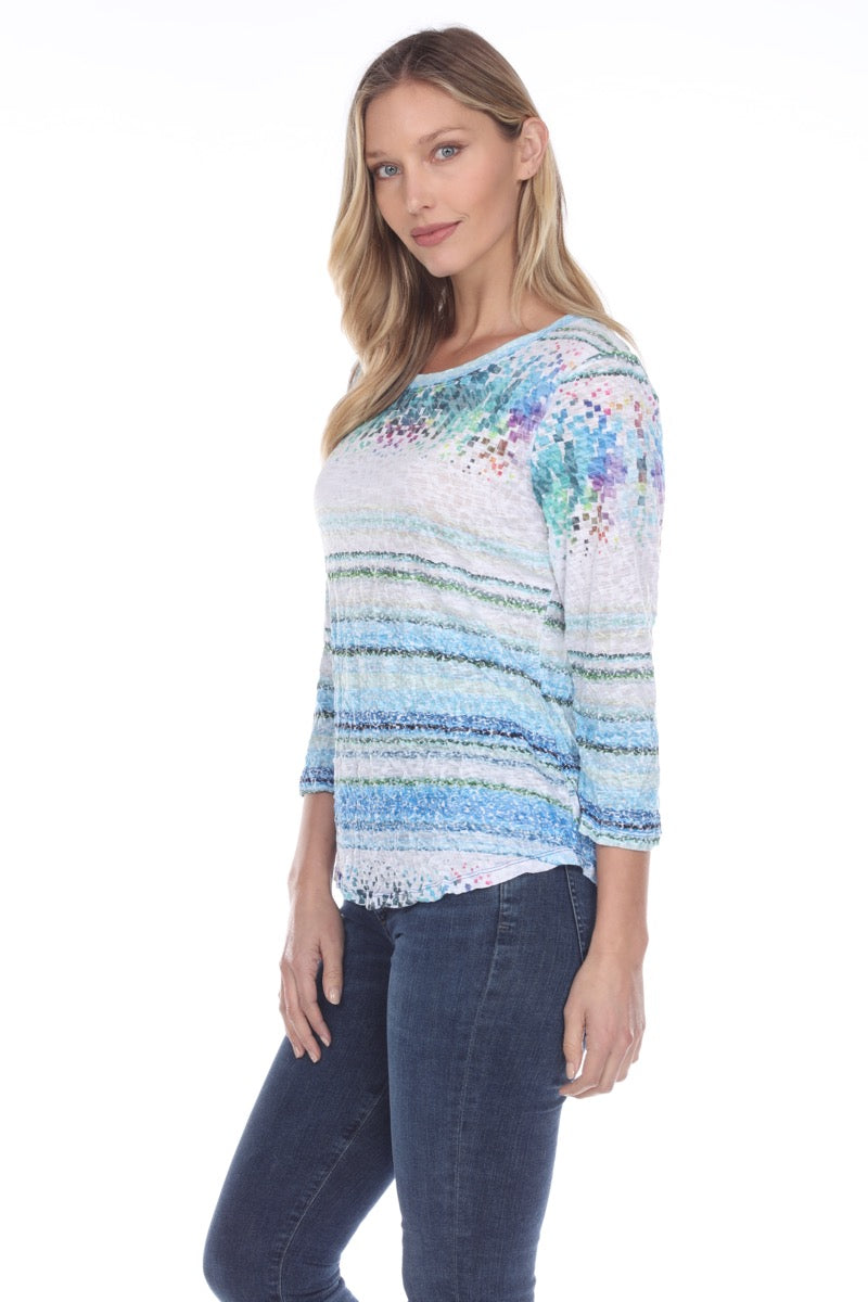 Round-Neck Top - Cube Abstract - CARINE