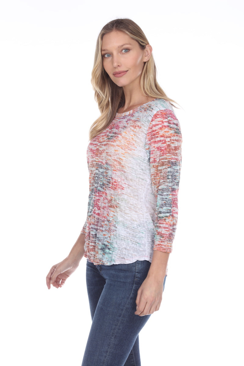 Round-Neck Top - Morning Lake - CARINE
