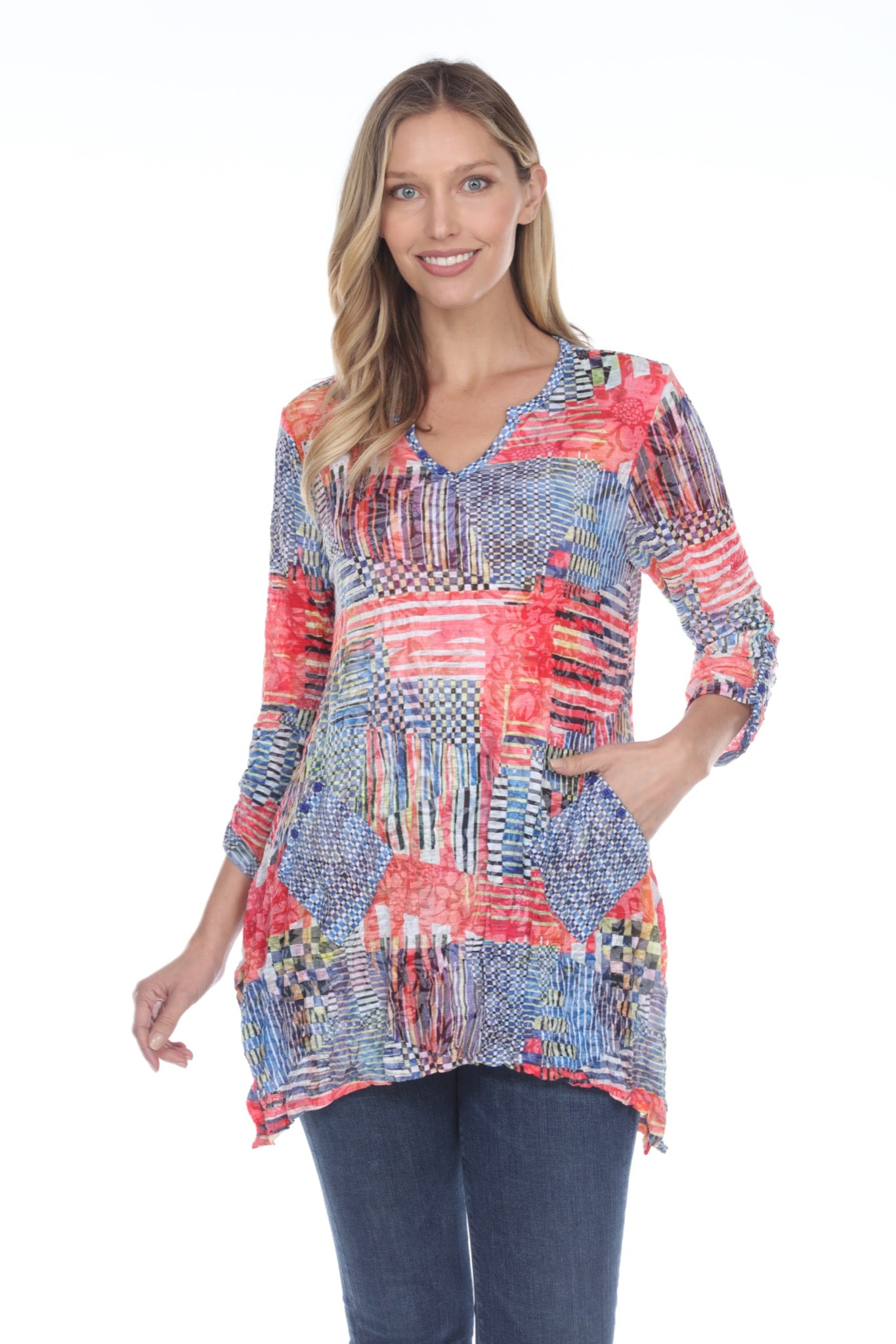 Two Pocket Tunic - Scarlet Patch - CARINE