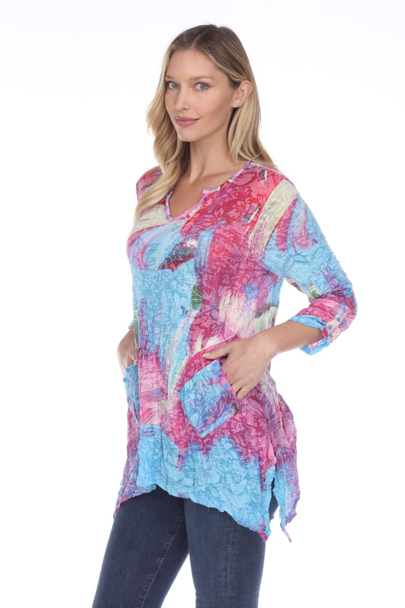 Two Pocket Tunic - Magenta Field - CARINE