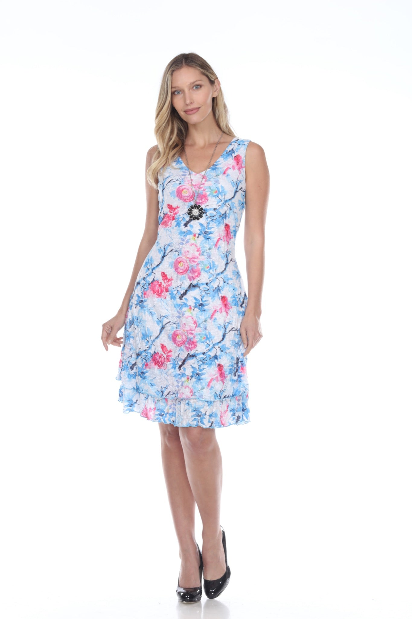 Darcy Dress - Spring Branches - CARINE