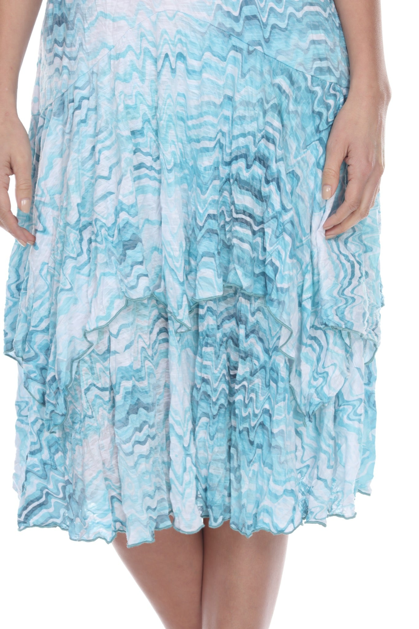 Paige Dress - Aqua Waves - CARINE