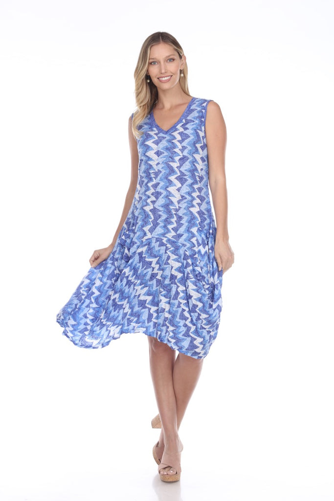Valerie Dress - Blue Static