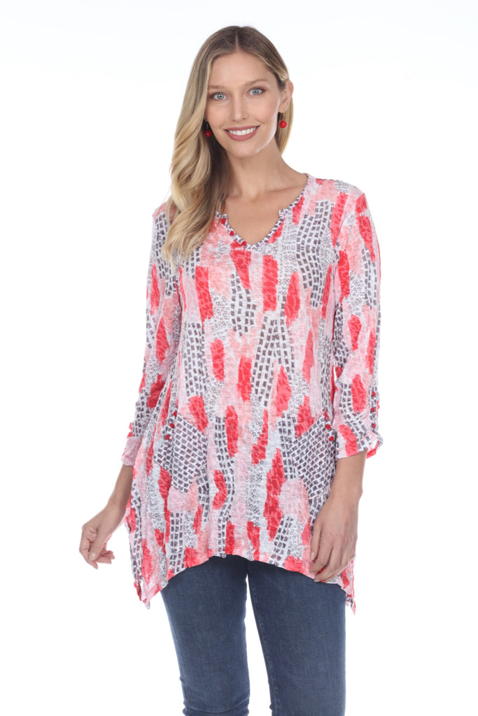 Two Pocket Tunic - Red Breeze