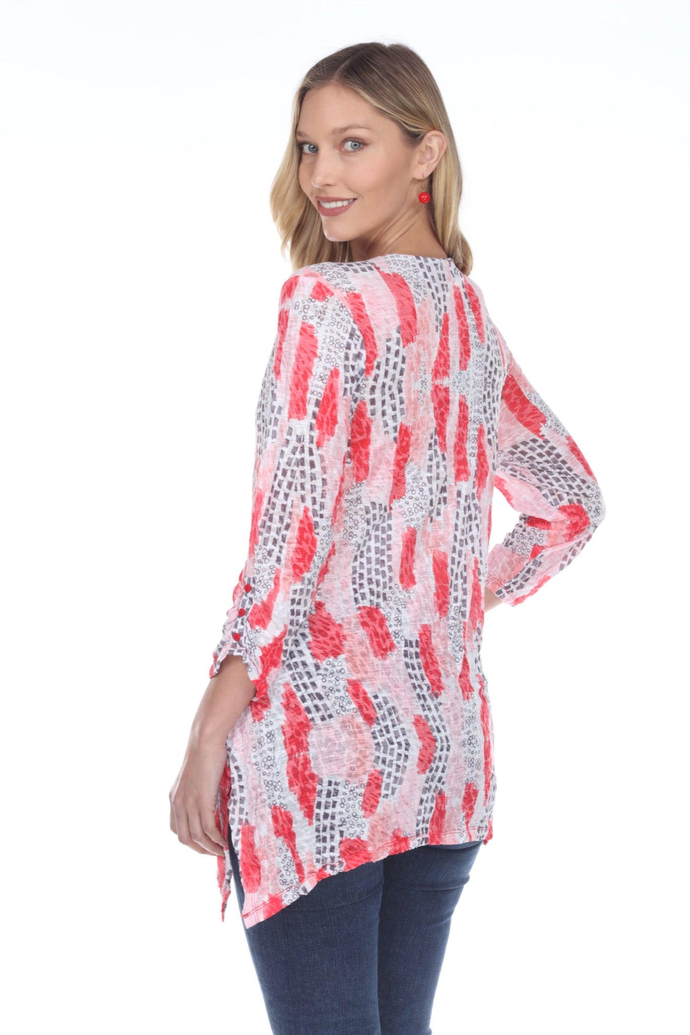 Two Pocket Tunic - Red Breeze - CARINE