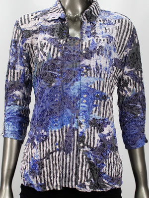 Sabrina Shirt Blue Splash - CARINE