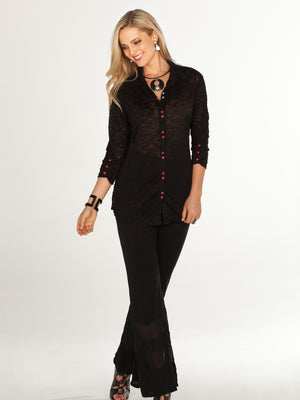 Black Button Down Shirt - CARINE