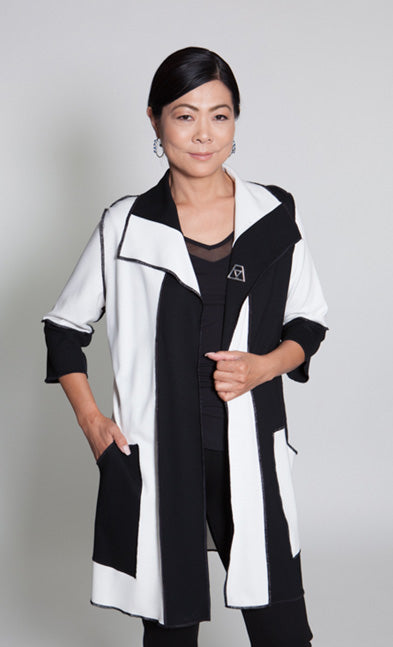Jacket - Black/White - CARINE