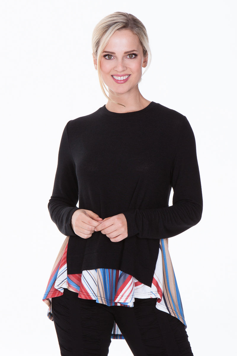 Autumn Top - Multi Black - CARINE