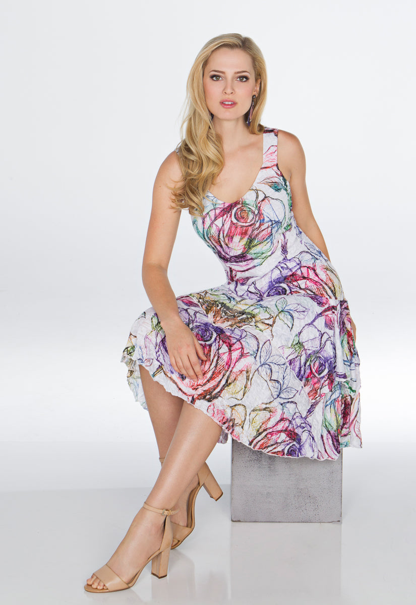 Paige Dress - Colored Pencil - CARINE