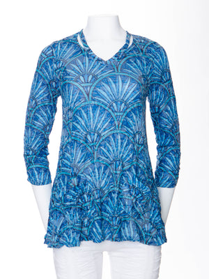 Two Pocket Tunic - Glass Feather - CARINE