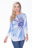 Becca Top - Azure Bloom - CARINE