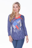 V-Neck Top - Symbol Abstract - CARINE