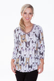 V-Neck Top - Dog Party - CARINE