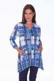 Two Pocket Tunic - Blue Plaid - CARINE