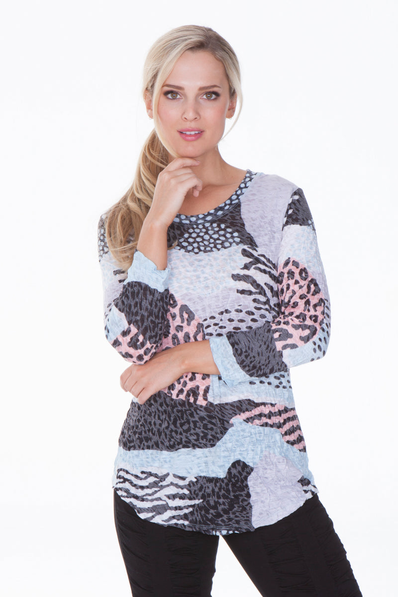 Round Neck Top - Multi Cat - CARINE