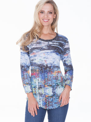 Round Neck Top - Painting - CARINE