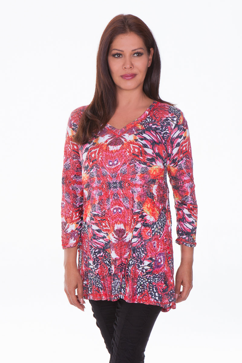 Jackie Top - Red Swirl - CARINE