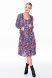 Paige Dress - Multi Plaid - CARINE