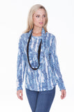 L/S Round Neck Set - Blue Scales - CARINE