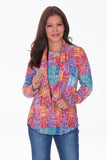 L/S Round Neck Set - Multi Check - CARINE