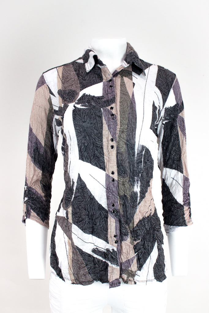 Sabrina Shirt - Native Abstract - CARINE