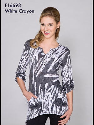 Two Pocket Tunic - White Crayon - CARINE