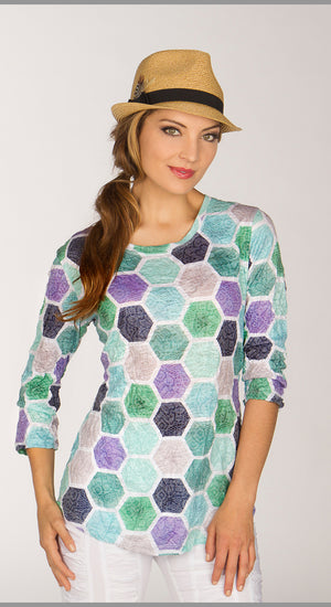 Round Neck - Green Hex - CARINE
