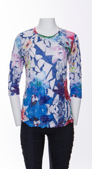 Round-Neck Top - Multi Mix - CARINE