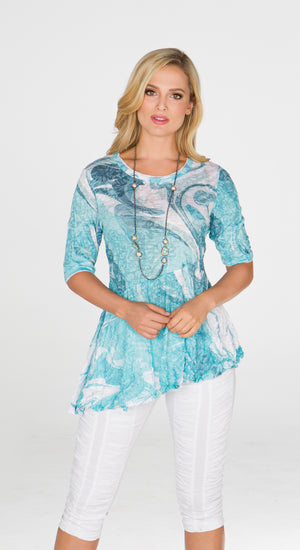 Karen Top Aqua Waves - CARINE