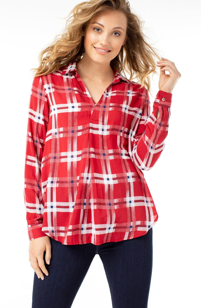 Asymetrical Pullover - Abstract Plaid