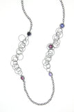Metal Chain w/ Multi Colored Pearls - CARINE
