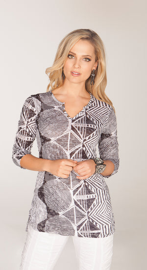 Nora Top Diamond Abstract - CARINE