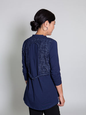 Top - Navy Lines - CARINE