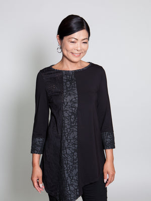 Top - Black w/ Gray Accent - CARINE